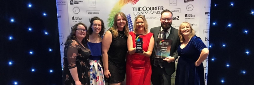 The Circle team at the Courier Business Awards